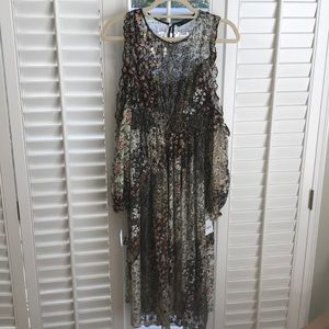 NWT Zara Mid Length Floral Dress